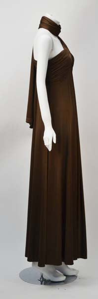 1970s Estevez Espresso Evening Gown