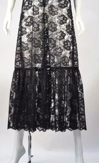 1970s Biba Sheer Lace Dress