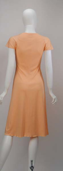 1970s Stephen Burrows Peach Summer Dress