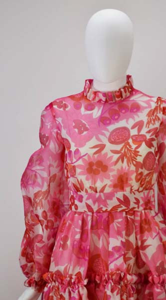 1960s Mollie Parnis Vivid Mini Dress