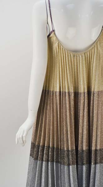 1970s Giorgio Sant' Angelo Knit Metallic Mini dress