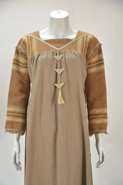 1970s Opus 1 By Diana Martin Tan and Brown Kaftan