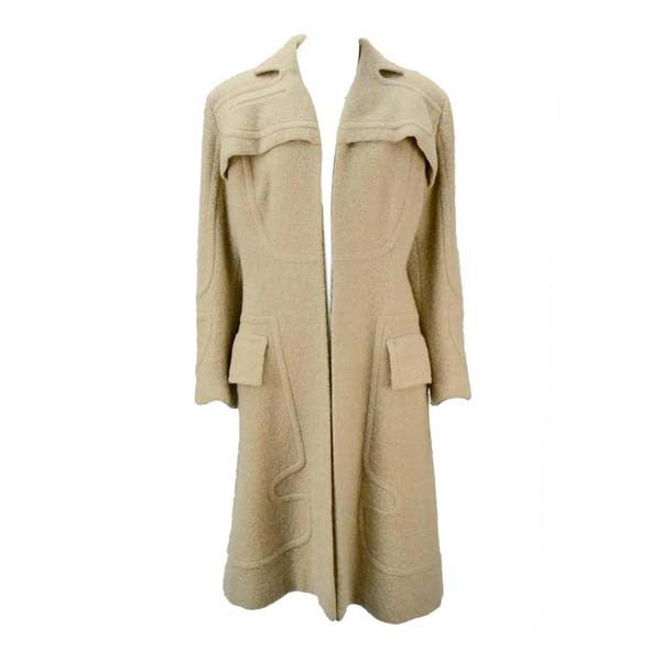 1940s Gilbert Adrian Light Tan Wool Coat