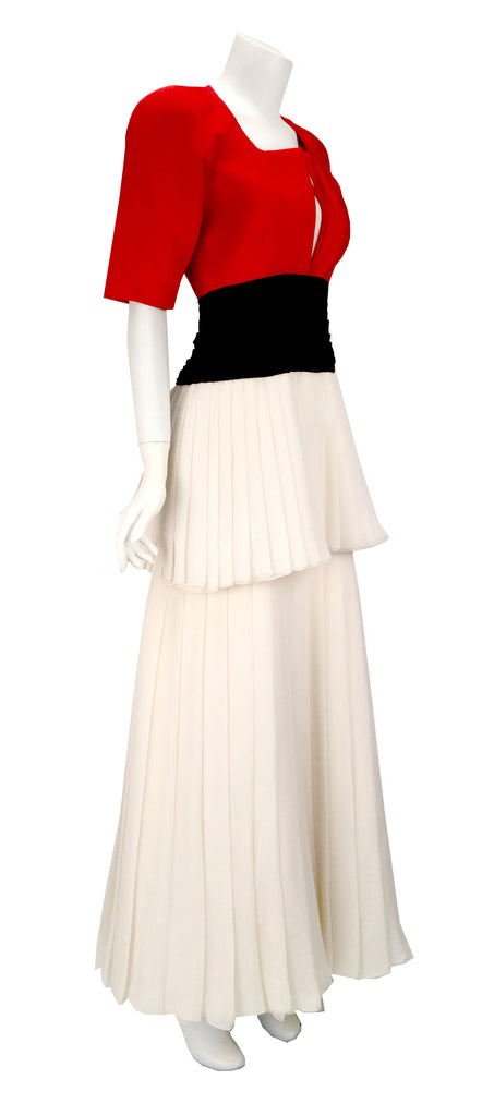 1980s Christian Dior Haute Couture Silk Evening Dress