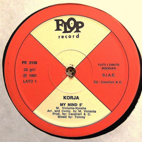 Korja ‎– My Mind (Flop Record ‎PE2138)