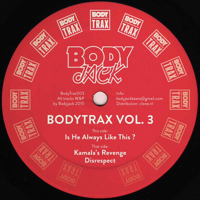 Bodyjack ‎– Bodytrax Vol. 3 EP (Body Trax 003)