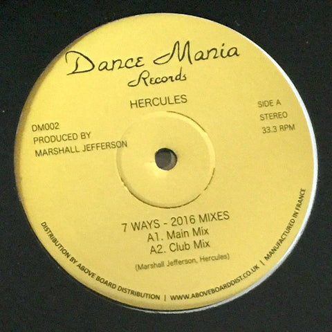Hercules ‎– 7 Ways - 2016 Mixes (Dance Mania ‎002)