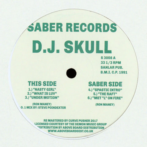 DJ Skull ‎– N.R.G. Music (Saber Records ‎3008)