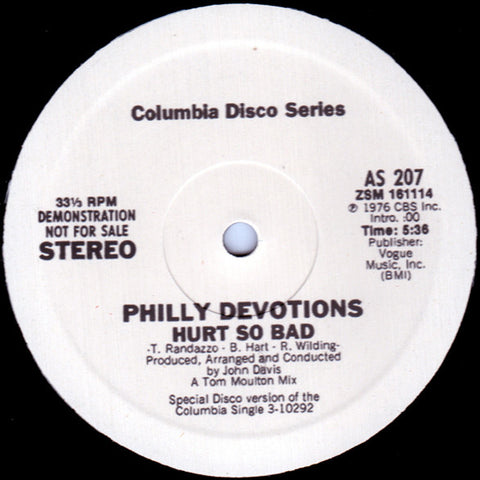 Philly Devotions ‎– Hurt So Bad (Columbia)