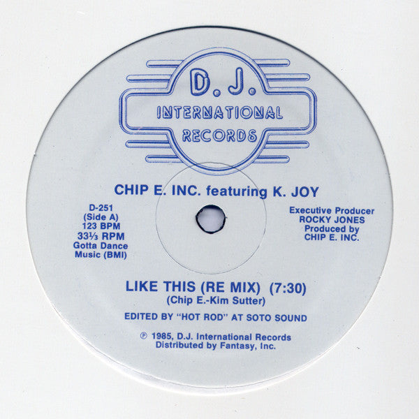 Chip E Featuring K Joy - Like This (DJ International Records)