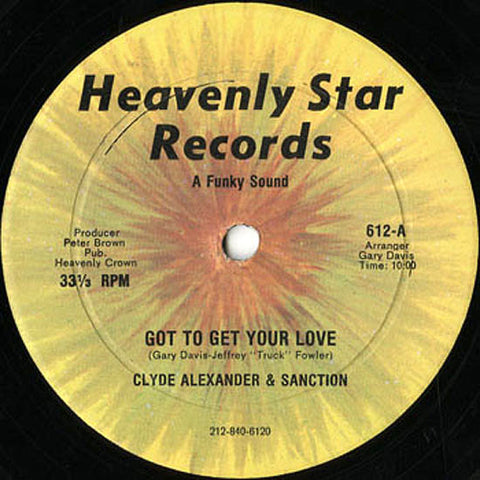 Clyde Alexander & Sanction ‎– Got To Get Your Love (Heavenly Star Records)