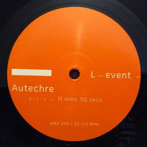 Autechre ‎– L-event (Warp Records ‎345)