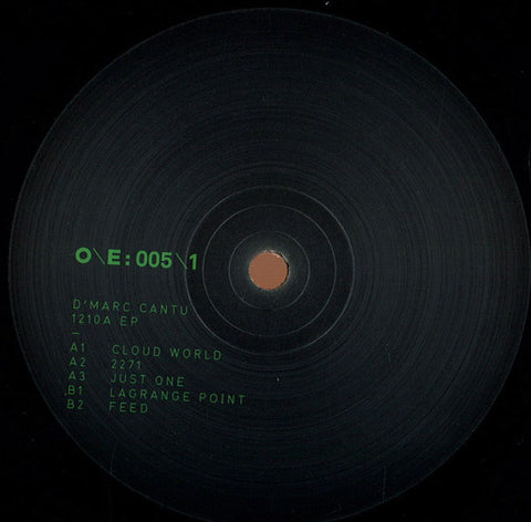 "D'Marc Cantu ‎– 1210A EP+10"" (One Electronica ‎005)"