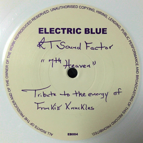 RT Sound Factor ‎– 7th Heaven (Electric Blue 004)