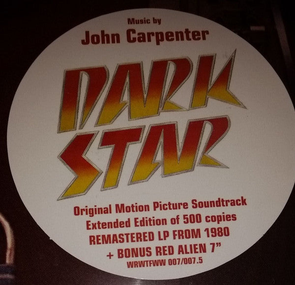 "John Carpenter ‎– Dark Star OST LP+7""  (WRWTFWW 007)"