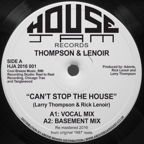 Thompson & Le Noir - Can't Stop The House (House Jam HJA2016001)