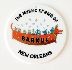 The Mystic Krewe of Barkus Disc Bead