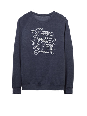 Happy Hanukkah Ya Filthy Schmuck - Unisex Crew Neck Sweatshirt