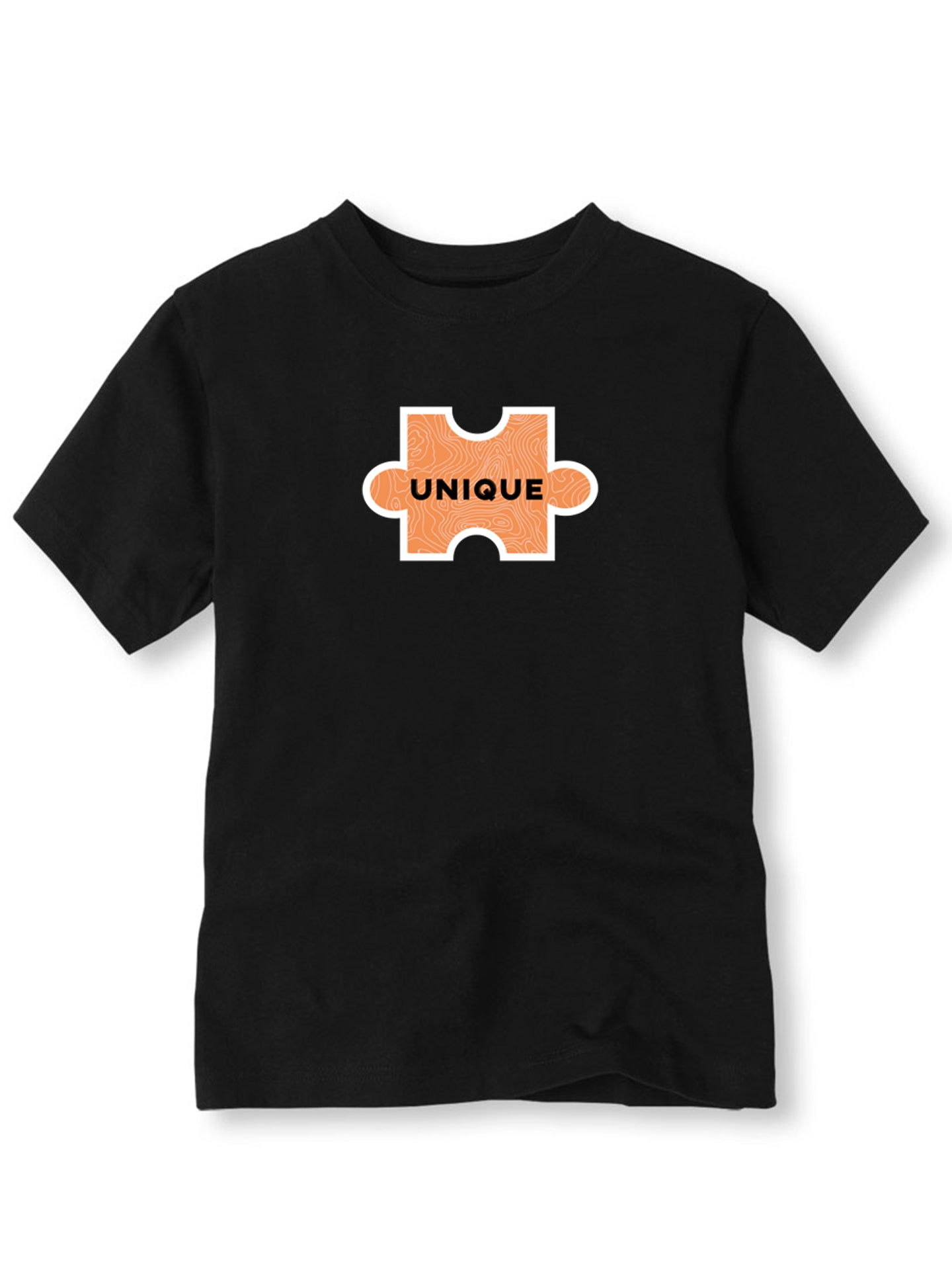 The Power of Words - Organic Kids Tee - Puzzle Piece - UNIQUE