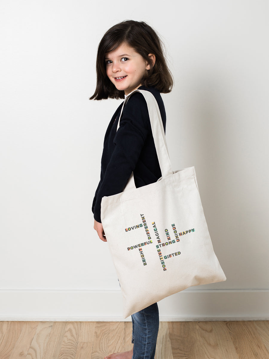 The Power of Words - Organic Natural Kids Tote