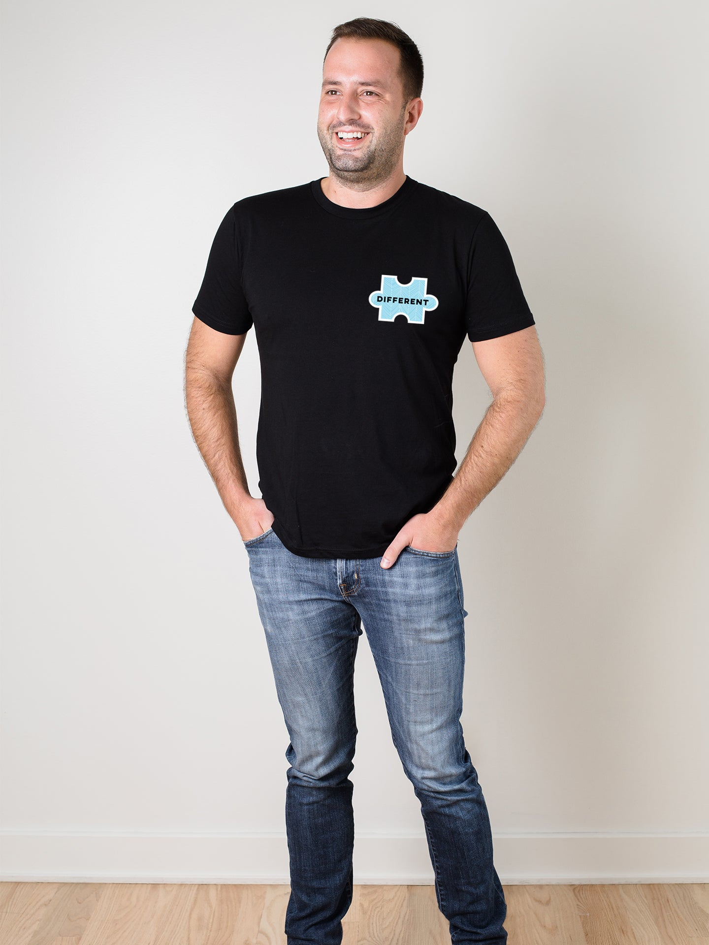 The Power of Words - Men's Tee - Puzzle Pieces - DIFFERENT