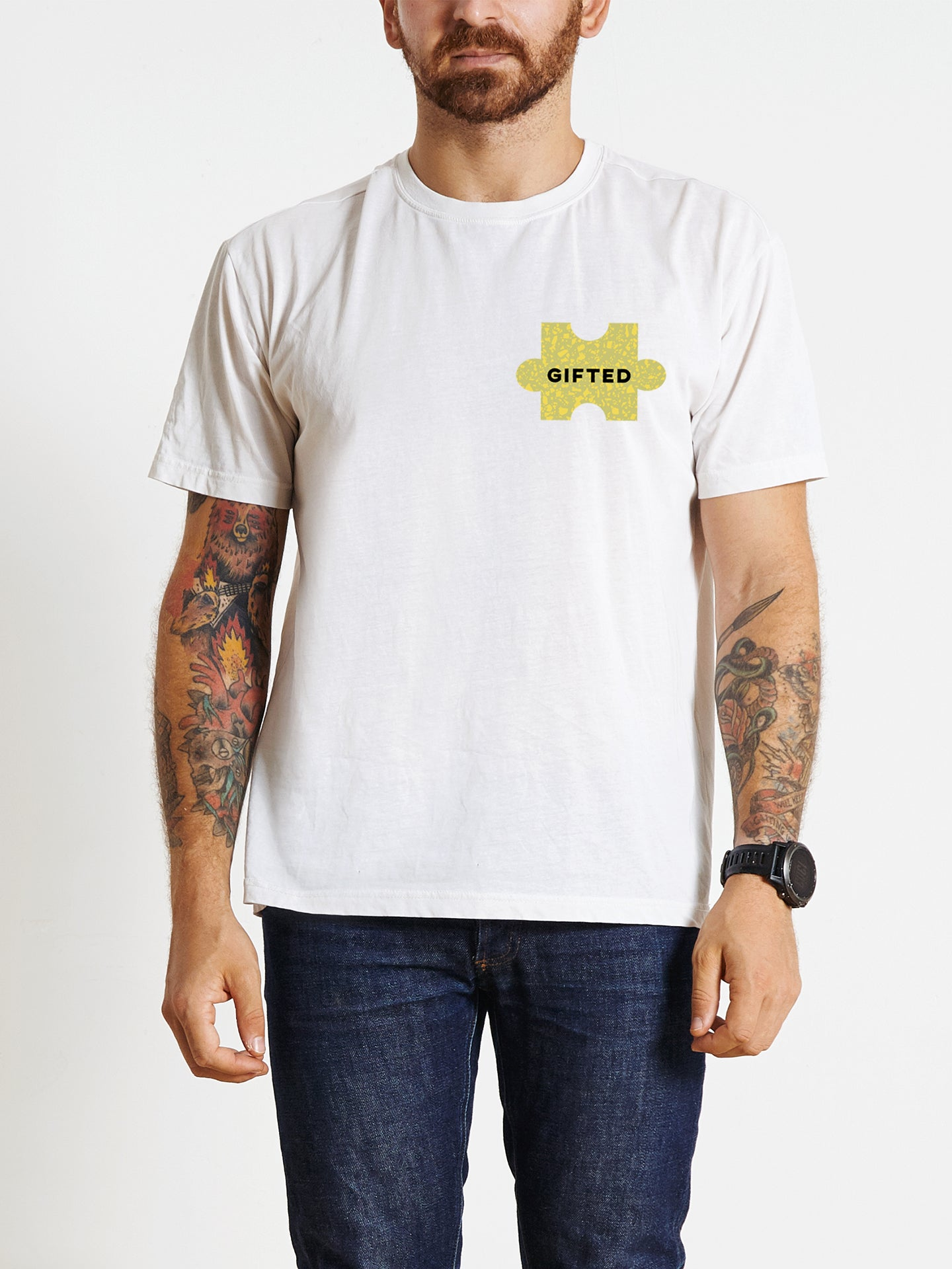 The Power of Words - Men's Tee - Puzzle Pieces - GIFTED