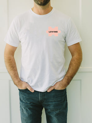 The Power of Words - Men's Tee - Puzzle Pieces - LOVING