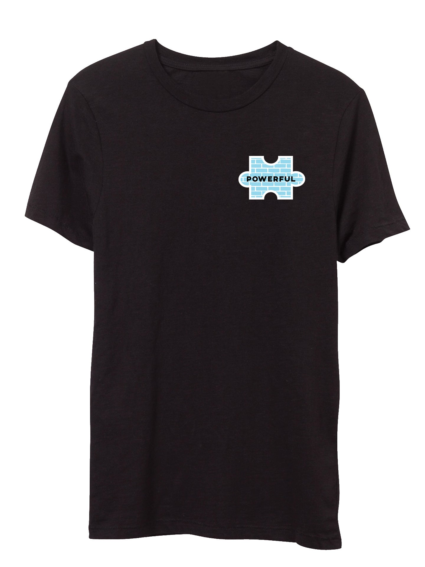 The Power of Words - Men's Tee - Puzzle Pieces - POWERFUL