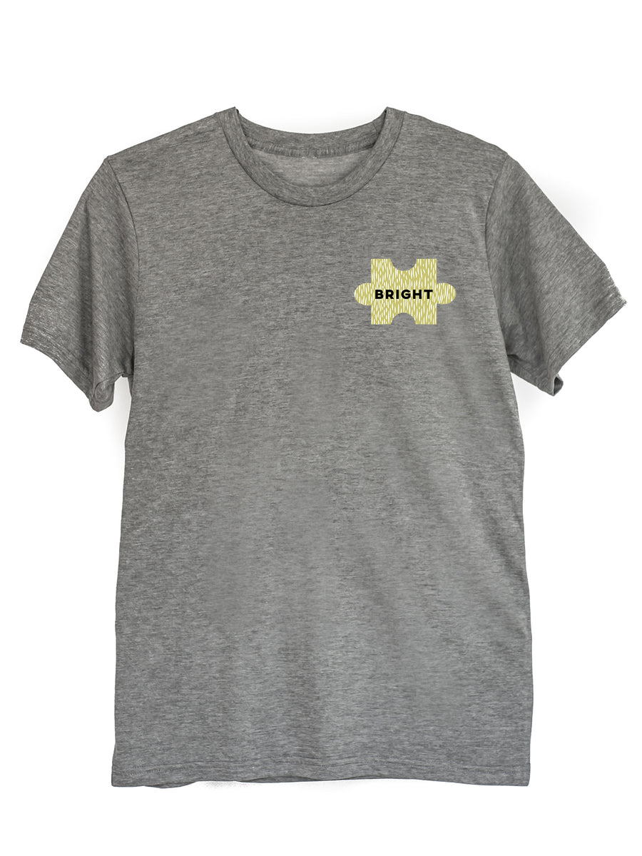 The Power of Words - Men's Tee - Puzzle Pieces - BRIGHT