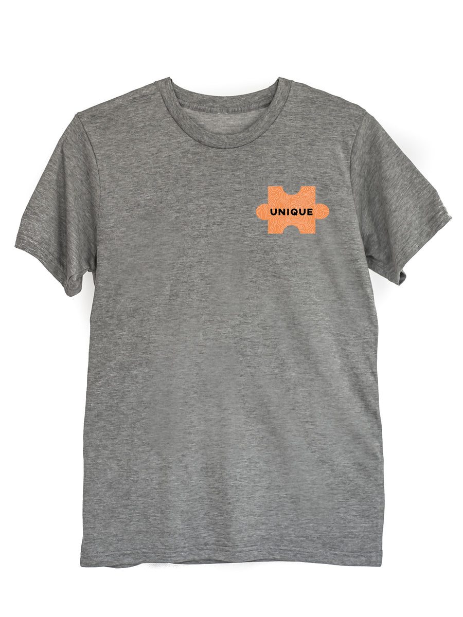 The Power of Words - Men's Tee - Puzzle Pieces - UNIQUE