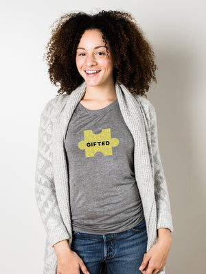 The Power of Words - Women's Tee - Puzzle Pieces- GIFTED