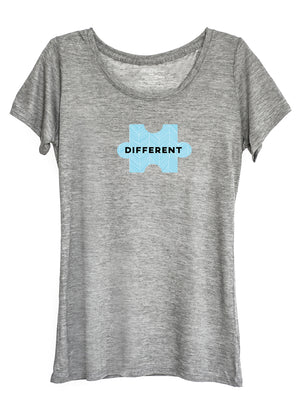 The Power of Words - Women's Tee - Puzzle Pieces - DIFFERENT