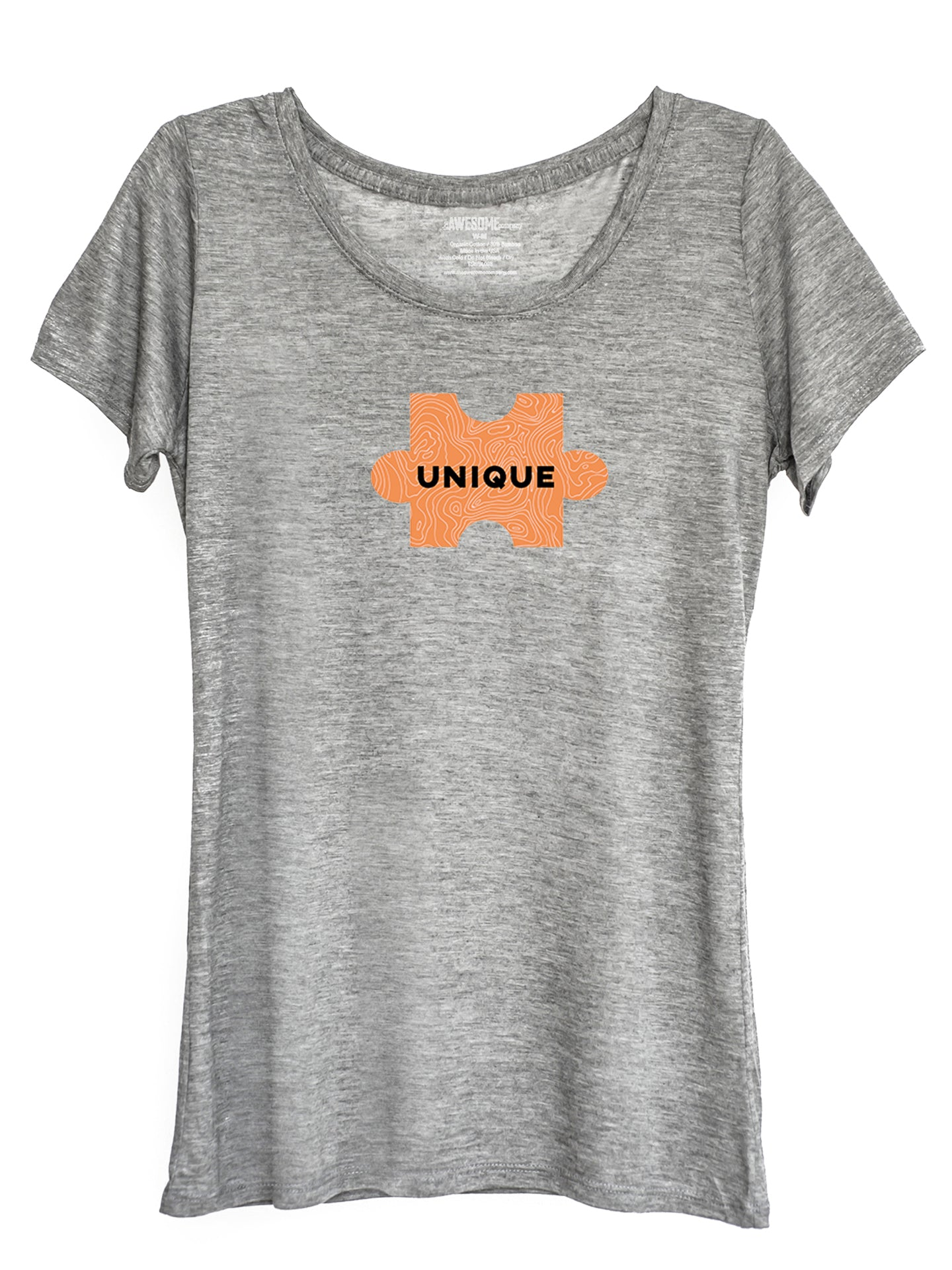 The Power of Words - Women's Tee - Puzzle Pieces - UNIQUE