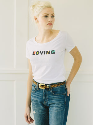 The Power of Words - Women's Tee - LOVING