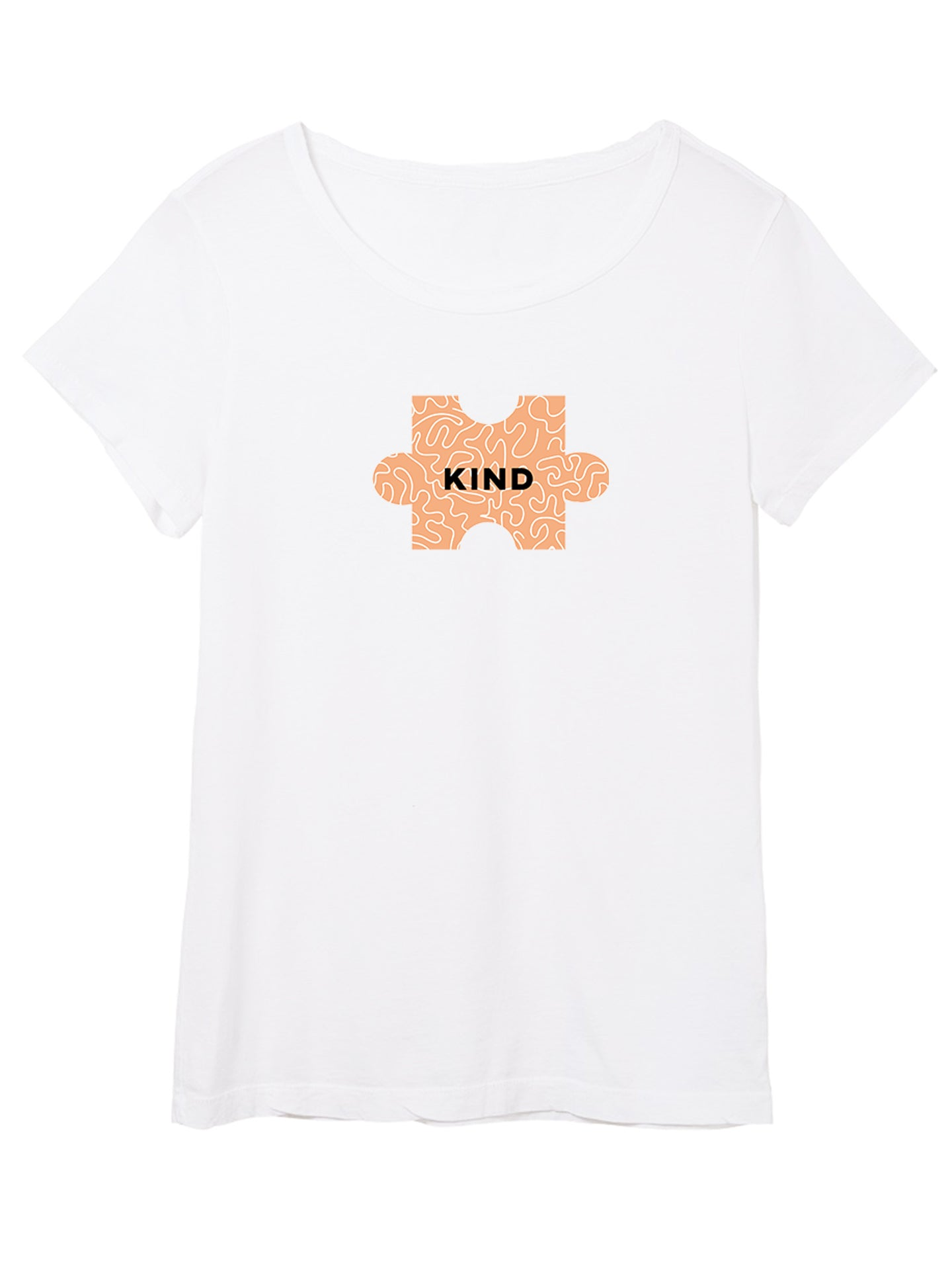 The Power of Words - Women's Tee - Puzzle Pieces- KIND