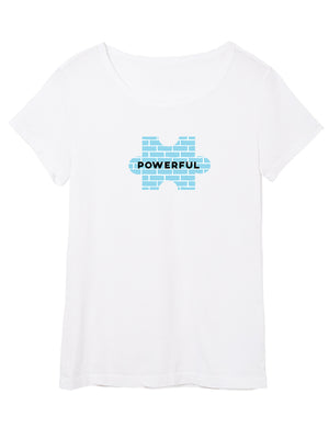 The Power of Words - Women's Tee - Puzzle Pieces- POWERFUL