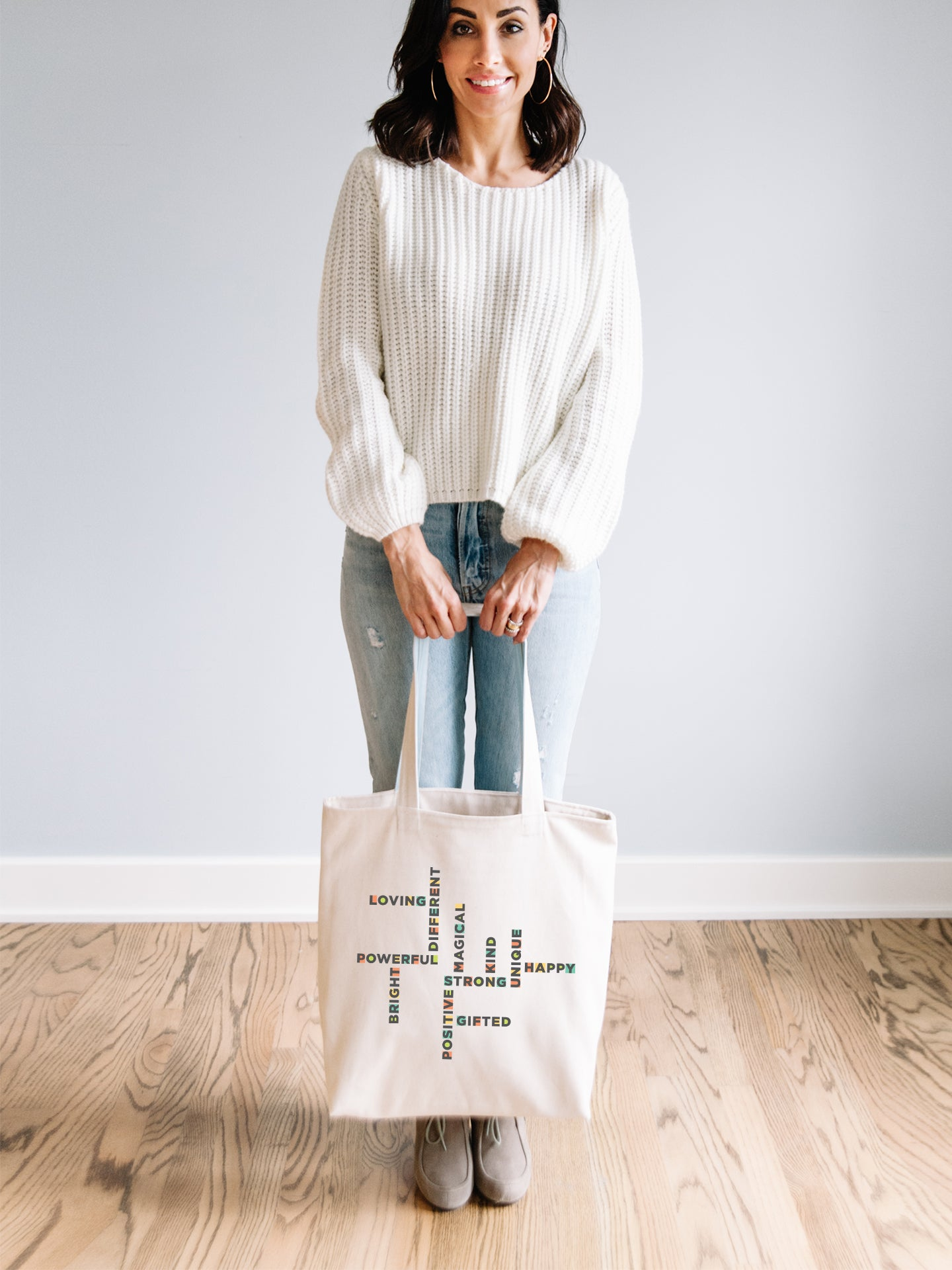 The Power of Words - Natural Organic Tote
