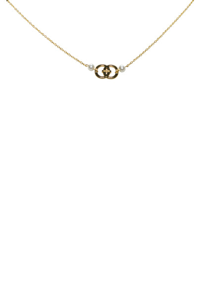 Noor Pearl Logo Necklace
