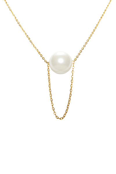 Noor Hanging Pearl Necklace