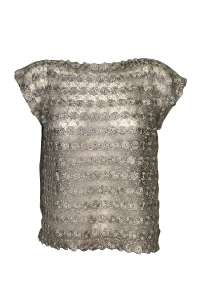 Sharon Lurex Top - Sil