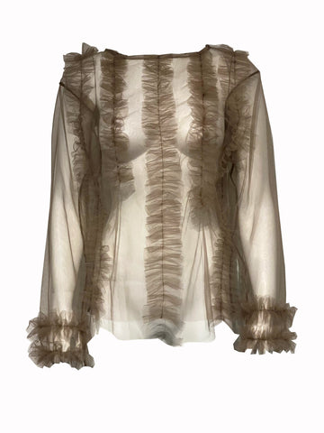 Isabelle waterfall blouse LS