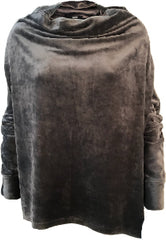 Paula waterfall velour sweater
