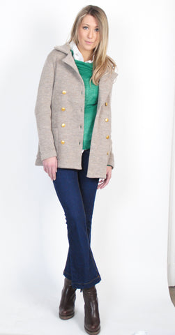 Audrey Knitted Wool Jacket Without Buttons