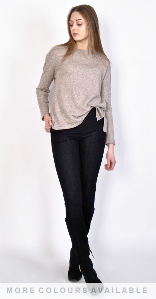 Kelly Cashmere U-neck Top