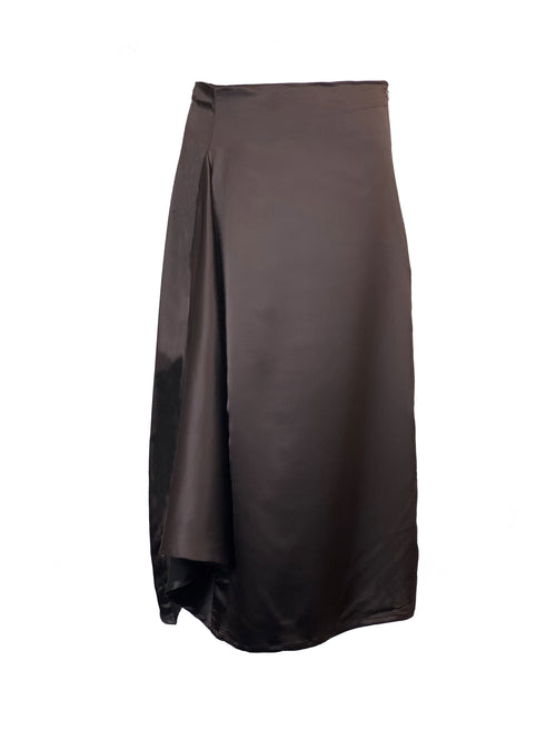 Mona silky satin skirt