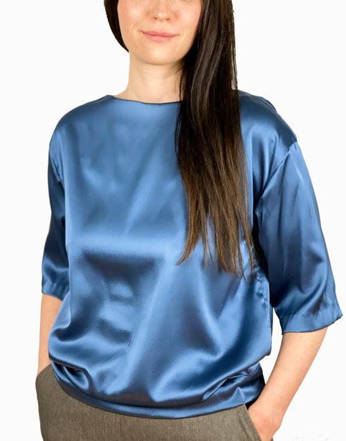 Tina  Silk Blouse Short Sleeves