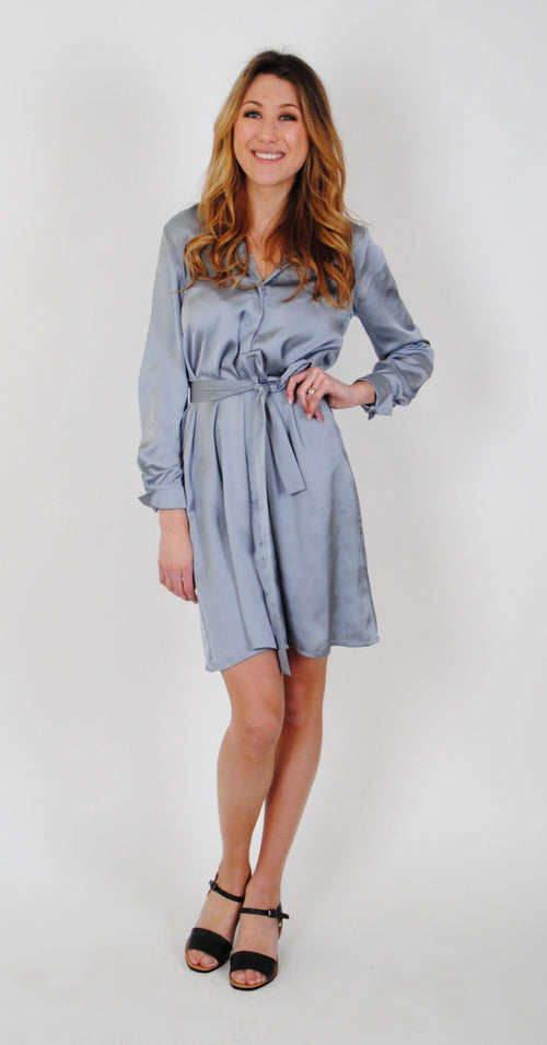 Ulrica Silky Satin Dress