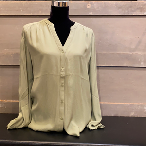 Sage Button Down Blouse