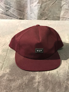 Huf Bar Logo Snapback - Wine