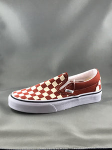 Vans Classic Slip-On Checkerboard (Picante/White)
